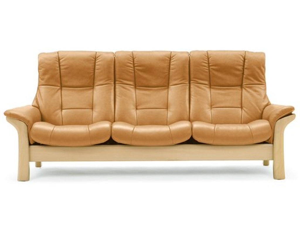 Stressless By Ekornes Stressless Buckingham Highback 3 Seater Large