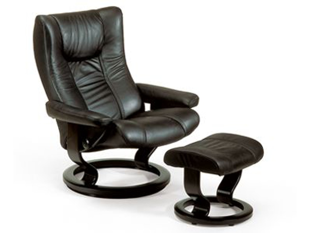 stressless by ekornes living room stressless wing large classic base 1060015 stacy furniture. Black Bedroom Furniture Sets. Home Design Ideas