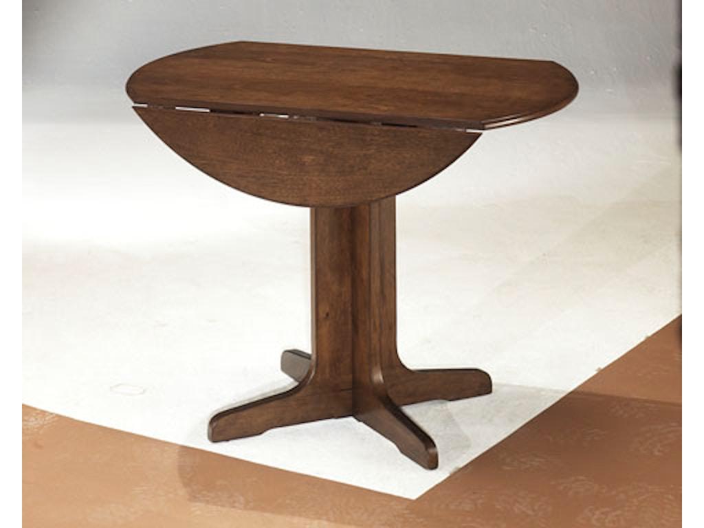 Hansen 39 S Exclusives Dining Room Round Drop Leaf Table 606102093 Hansens Furniture Modesto