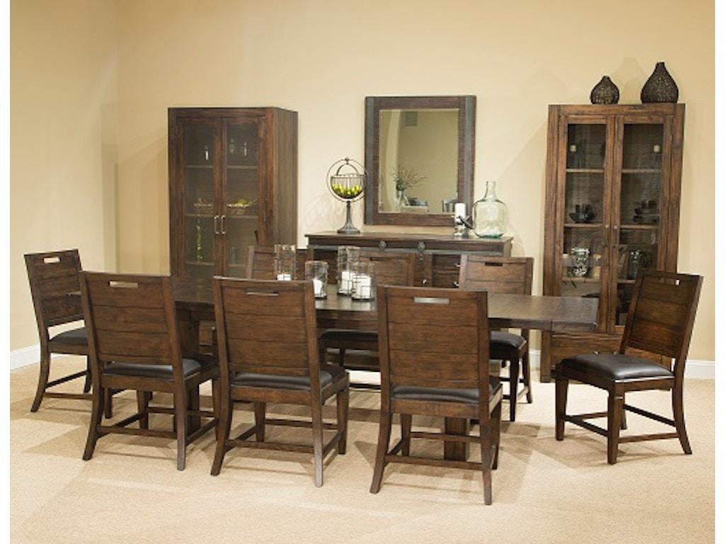 magnussen home dining room rectangular dining table rustic warm hansens furniture modesto. Black Bedroom Furniture Sets. Home Design Ideas