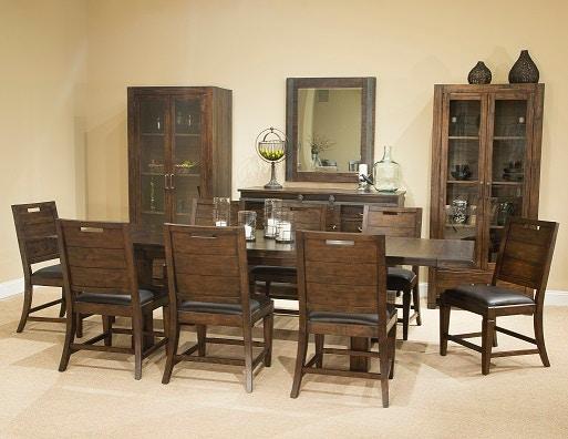 Magnussen Home Rectangular Dining Table Rustic Warm