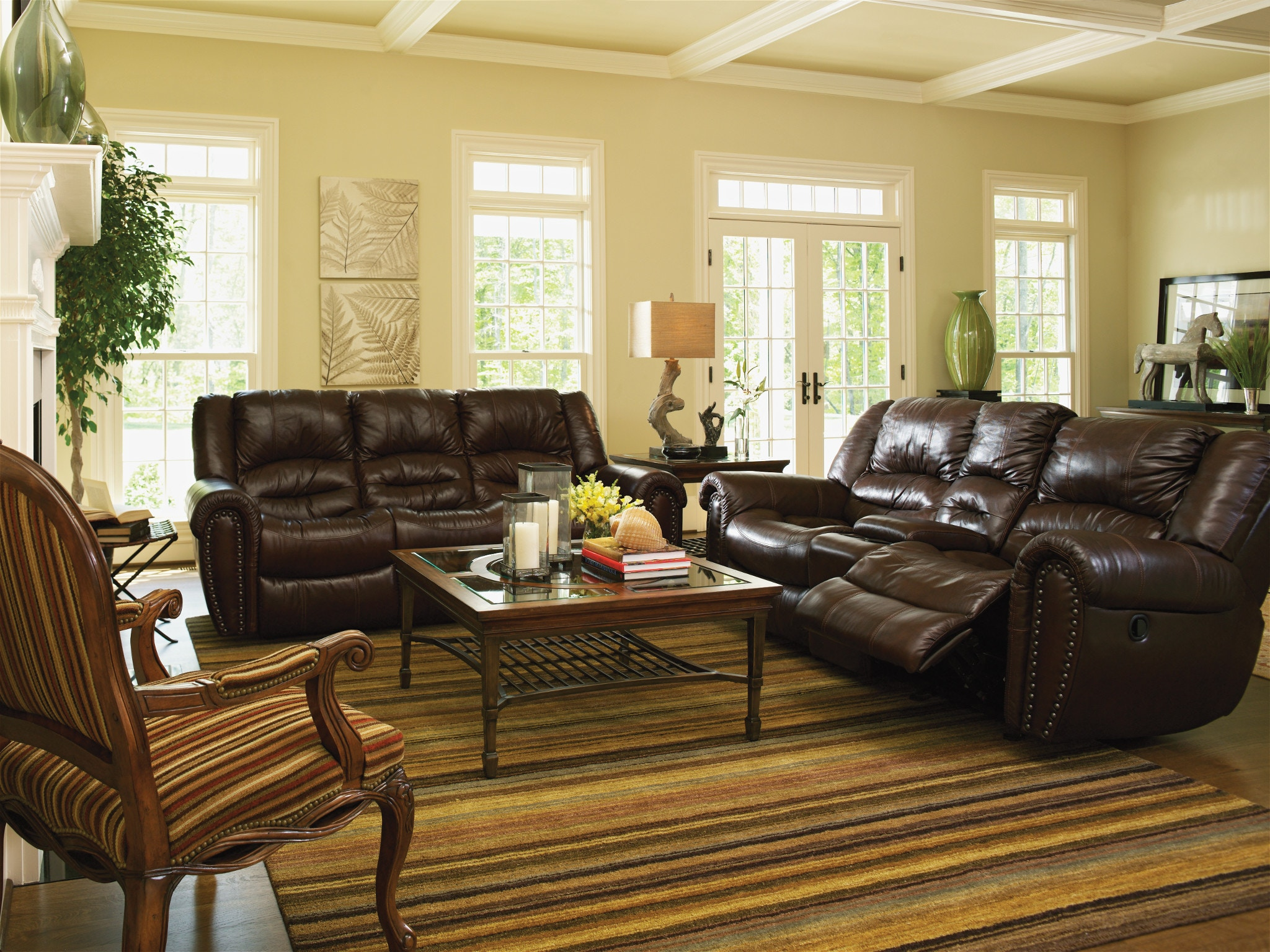 flexsteel leather power reclining sofa 121062p