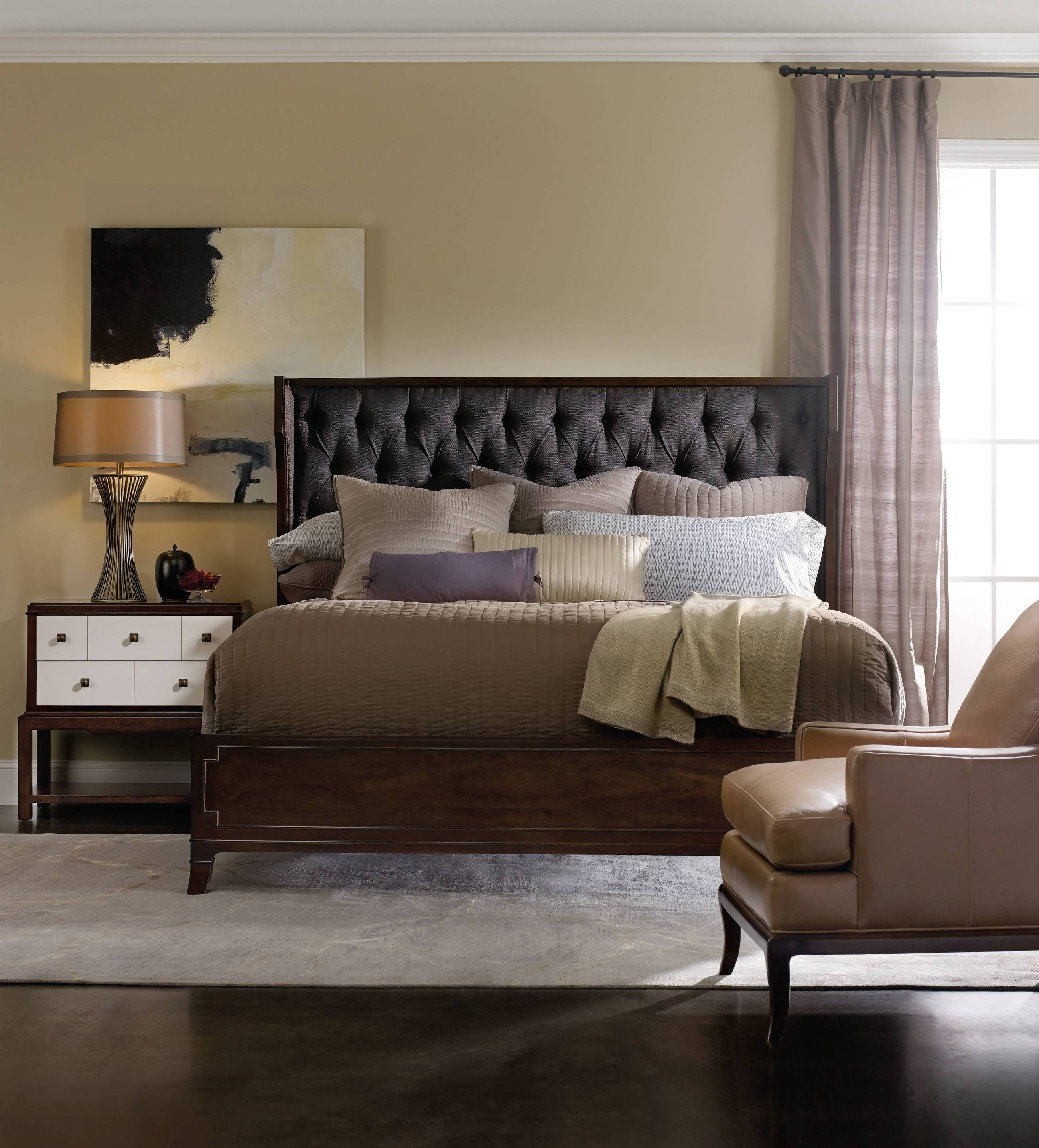 Hooker Furniture Bedroom Palisade Upholstered Shelter King