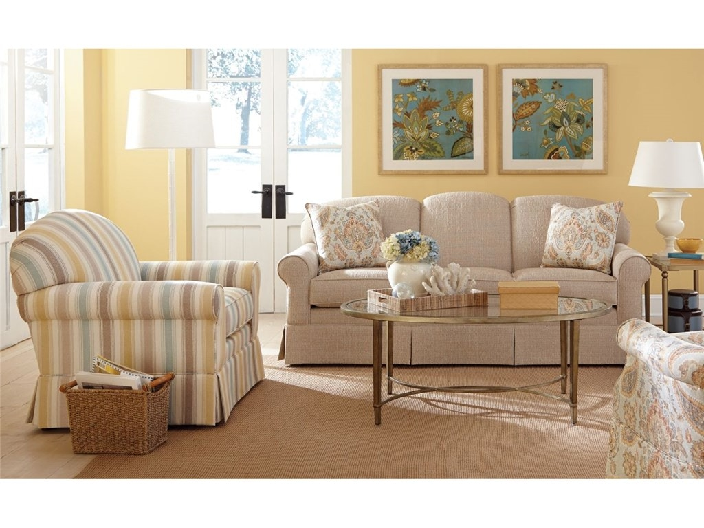 Craftmaster living room three cushion sofa 918250 for Living room queen creek