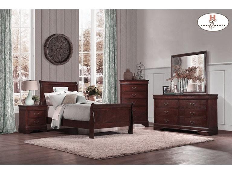 Homelegance Mayville Cherry Bedroom Group King 803968 Furniture Fair Cincinnati Dayton