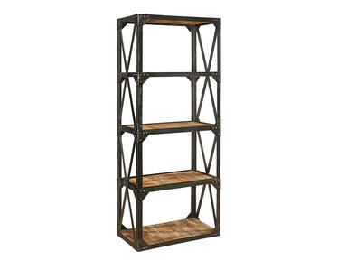 Furniture Classics Bleecker Recycled Narrow Bookcase 72036