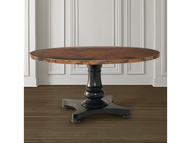 "54"" Round Copper Dining Table"
