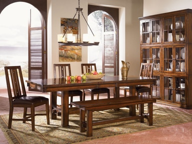 A America Dining Table Set Solid Mahogany MES AM 6 37