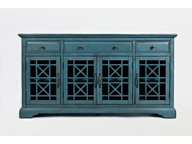 "Jofran Conventry 60"" Console Antique Blue  523521"