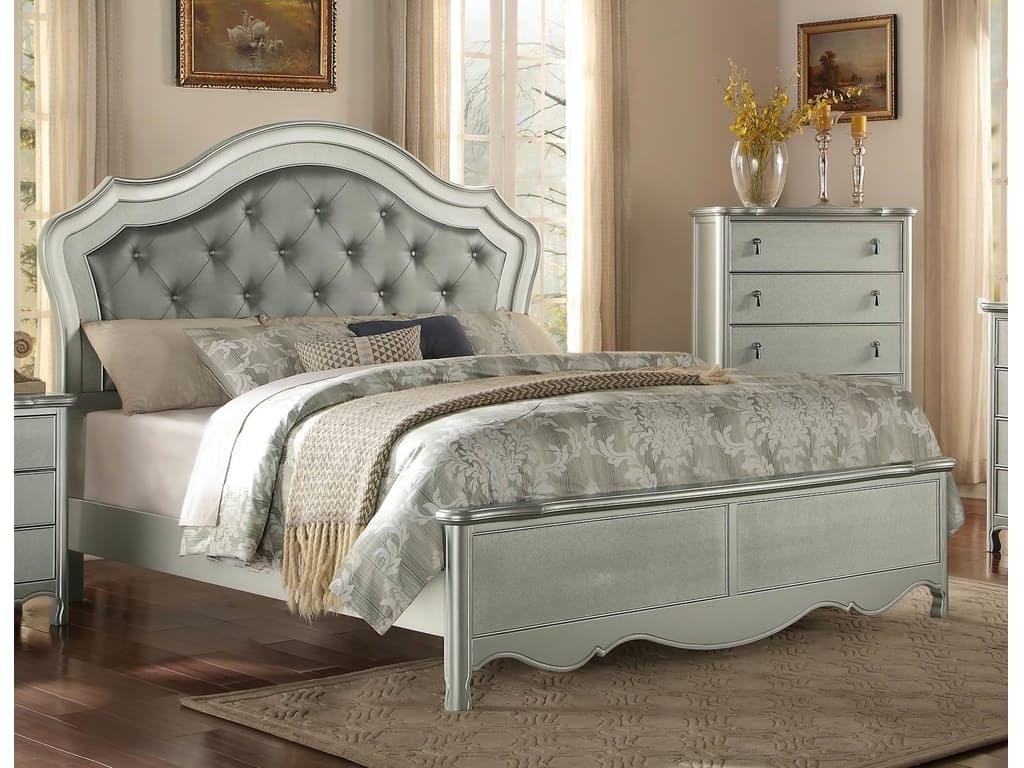 Kittles Bedroom Furniture Horizon Bedroom Champagne Queen Upholstered Bed G67228 Kittles