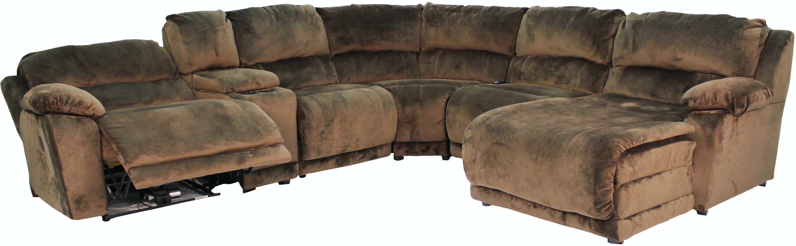 Klaussner Living Room Charmed 6 Piece Reclining Sectional G