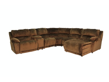 Klaussner Charmed 6 Piece Reclining Sectional G57536