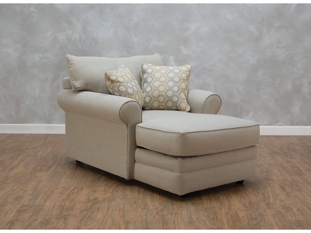 Klaussner living room comfy ii chaise 541253 kittle 39 s for Chaise wayne