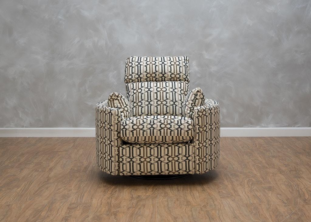 Klaussner Living Room Cosmo Bradford Power Swivel