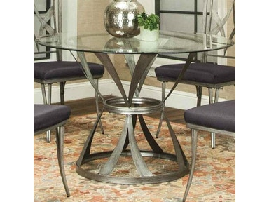 Aloft Pierce Glass Top Dining Table G63979