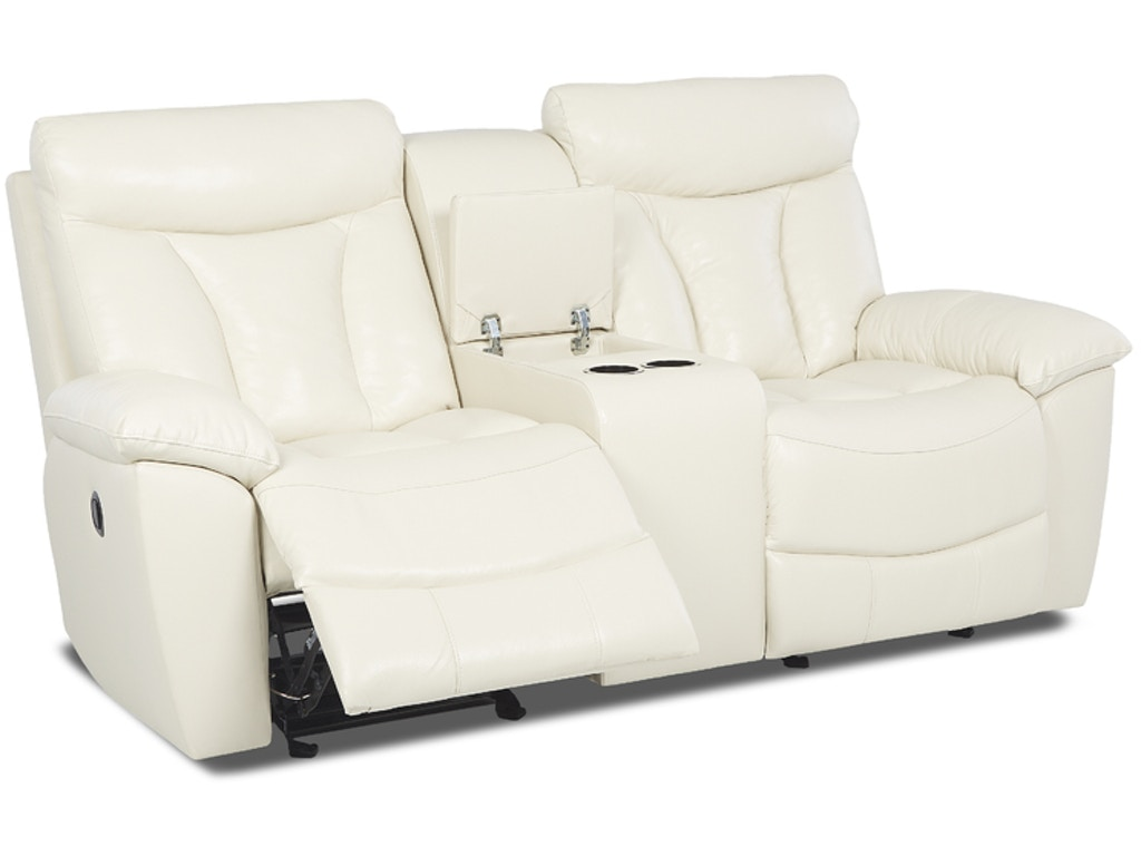 Klaussner Living Room Deluxe Console Glider Reclining Loveseat 517435 Kittle 39 S Furniture Indiana