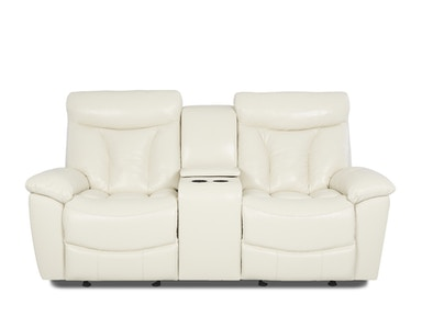Klaussner Deluxe Console Reclining Loveseat 526775