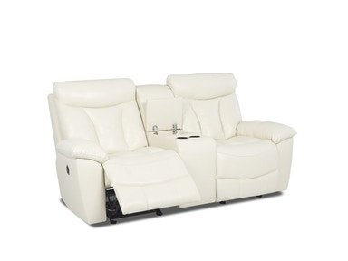 Klaussner Deluxe Power Console Reclining Loveseat 526778