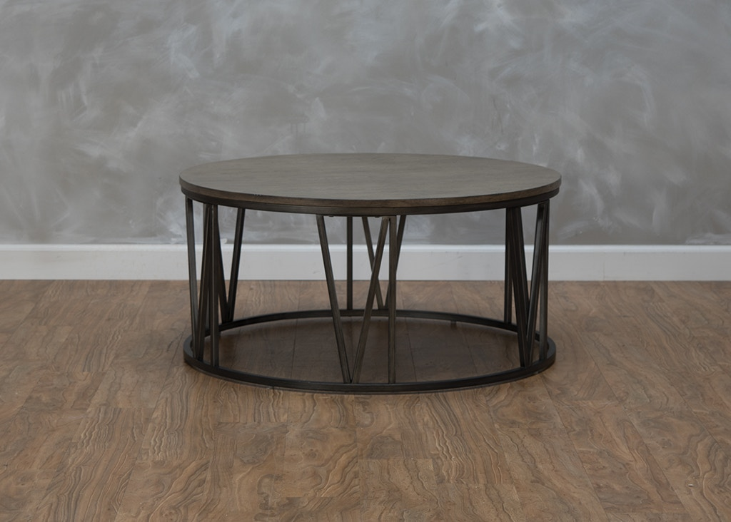 magnussen home avalon round cocktail table