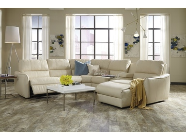Palliser Furniture 5-Seat Curved Corner Small Reclining Sectional 41130-Sectional
