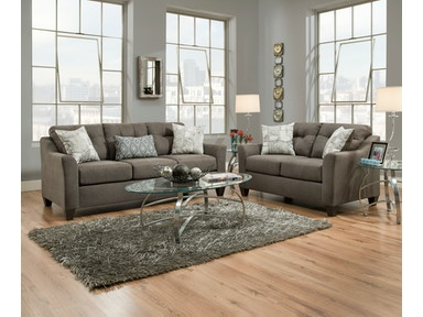 Simmons Upholstery Sofa in Encino Charcoal 4315S