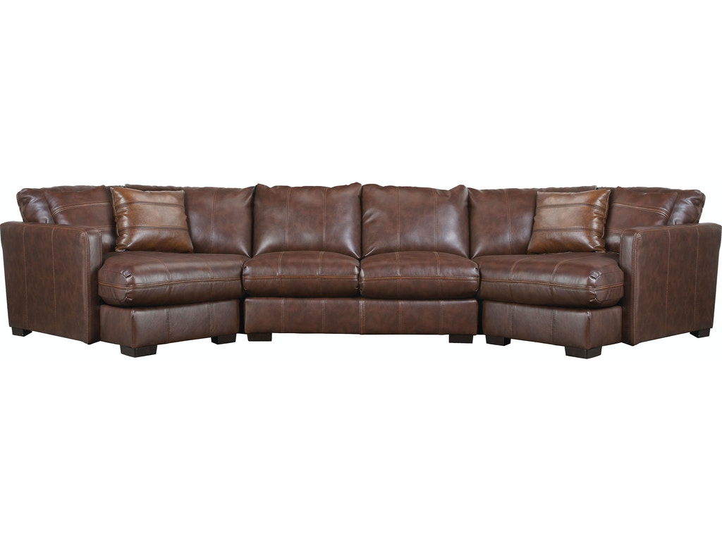 Jackson Furniture Living Room Three Piece Sectional In Java 4395 3 Pc Sect Goldsteins