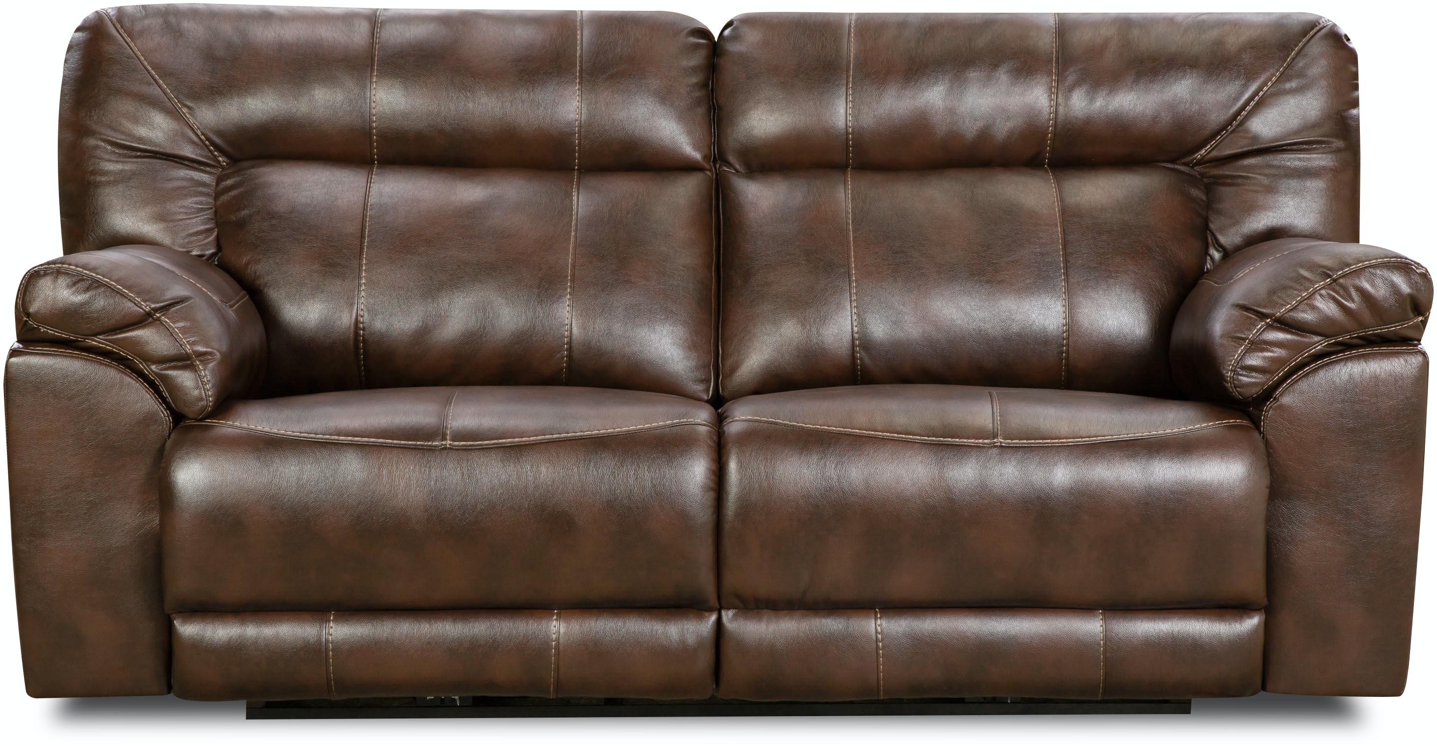 Simmons Upholstery Living Room Abilene Tobacco Reclining Sofa