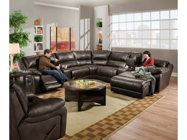 Simmons Upholstery 5-piece sectional 50660 5PC SECTIONAL