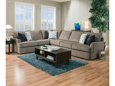 Simmons Upholstery 2-Piece Sectional 8540 2PC SECTIONAL
