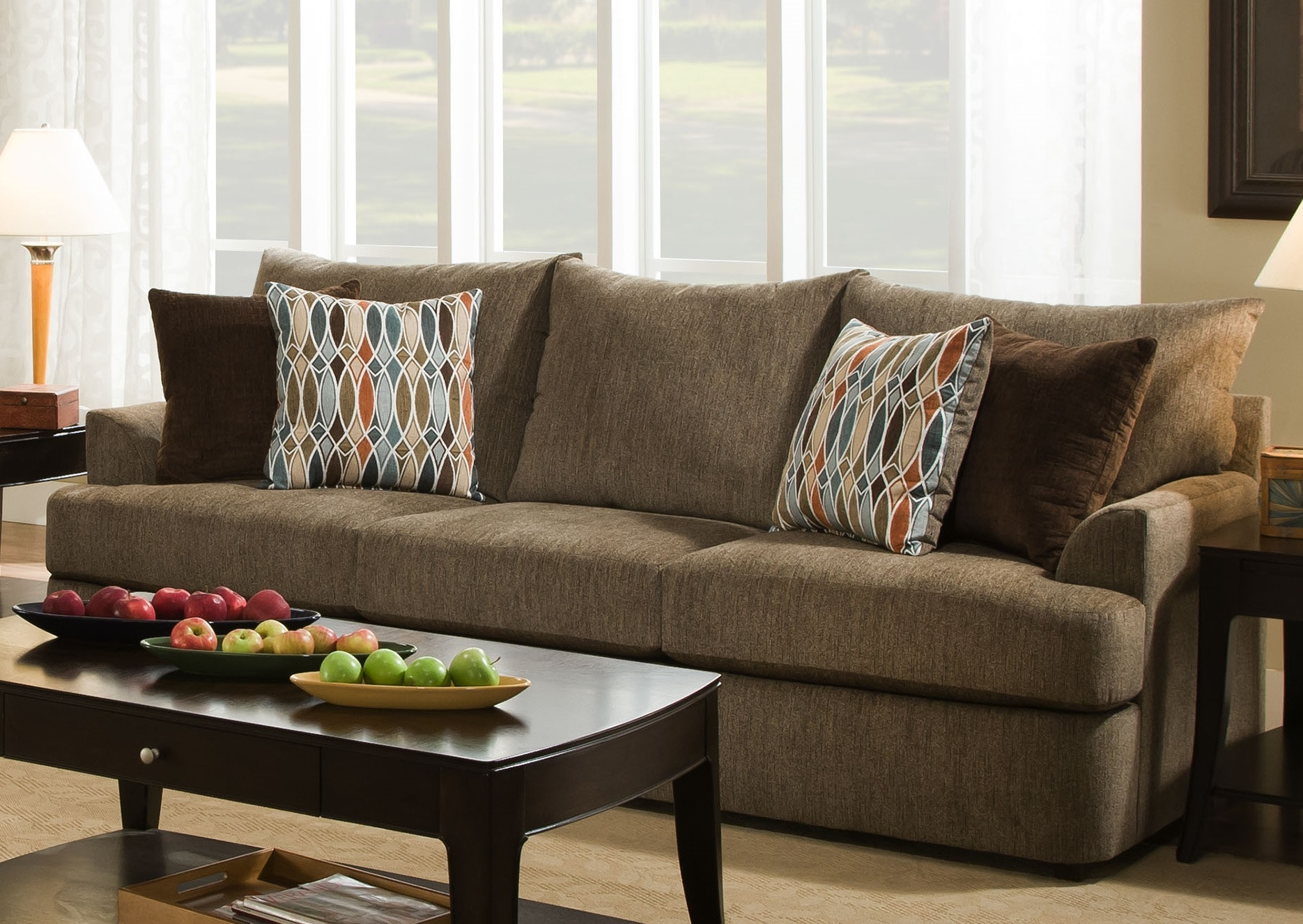 Simmons Flannel Charcoal Sofa Big Lots By Simmons Flannel Charcoal Sofa