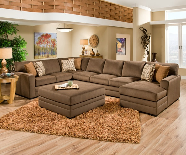 Simmons Upholstery Living Room 3 Piece Sectional