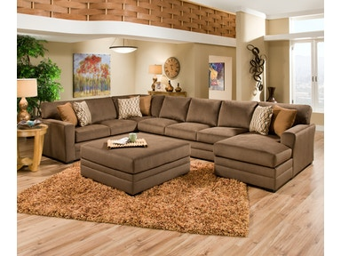 Simmons Upholstery Sectional 90350 3 Piece Sectional