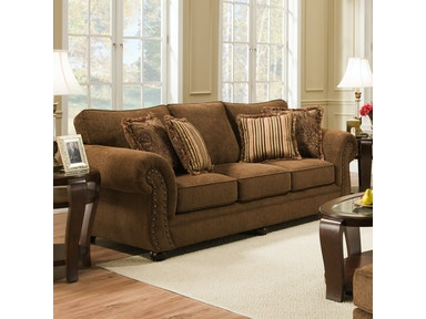 Simmons Upholstery Outback Chocolate Sofa 4277S