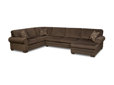 Simmons Upholstery Sectional 8061 3 Piece Sectional