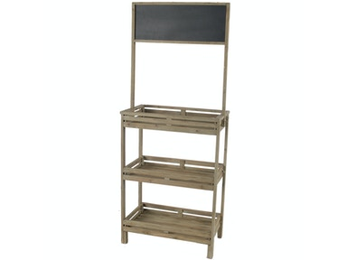 A&B Home Pauline Open Shelf with Blackboard 32748
