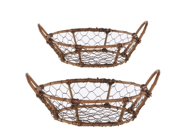 A&B Home Rattan & Metal Baskets 39309