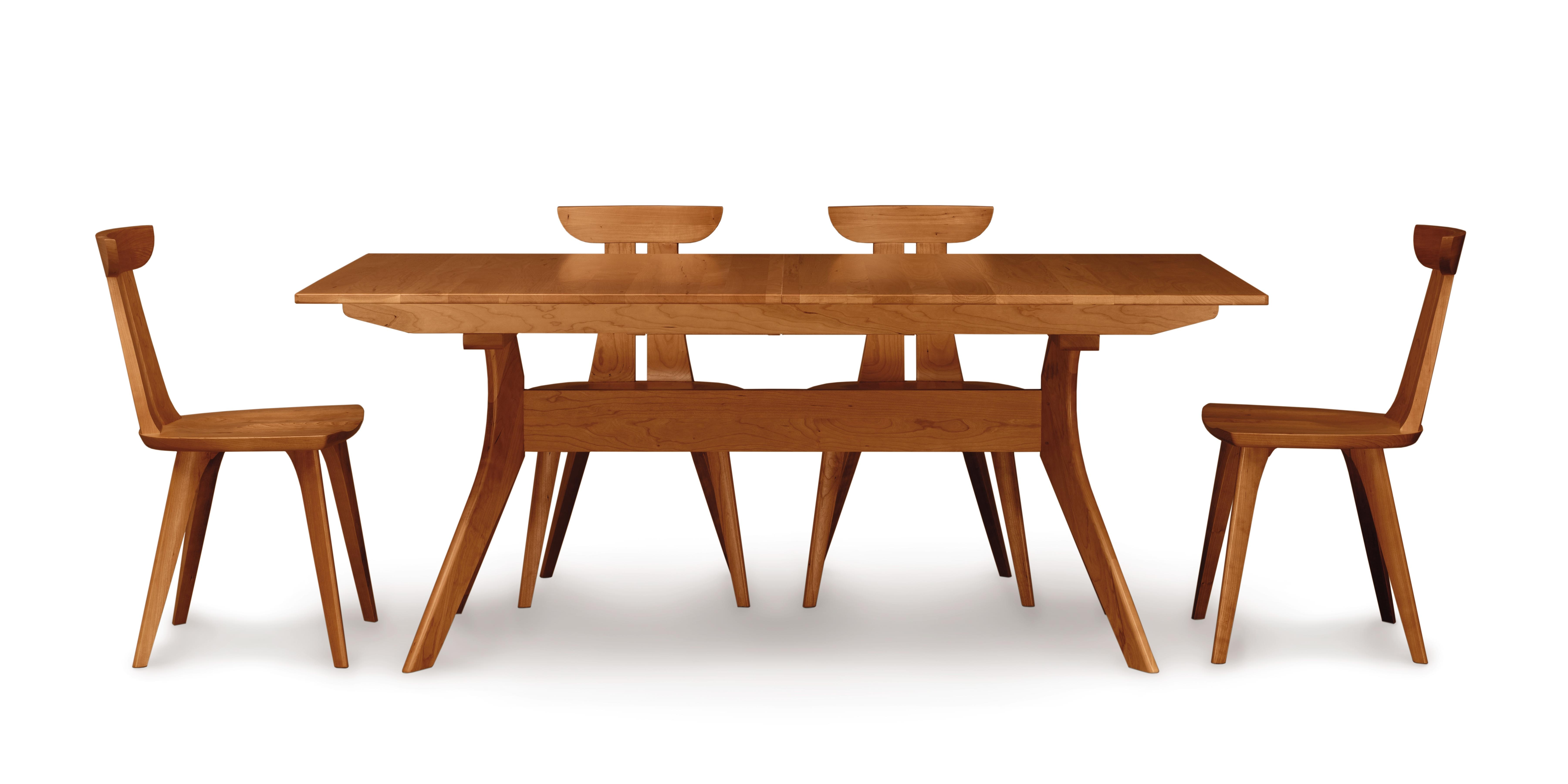 Copeland Audrey Extension Table With EasyStow Extension And Leaf Storage In  Cherry 6 AUD