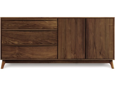 Copeland Catalina Dresser in Walnut with 3 drawers on left, 2 doors on right 2-CAL-52-04