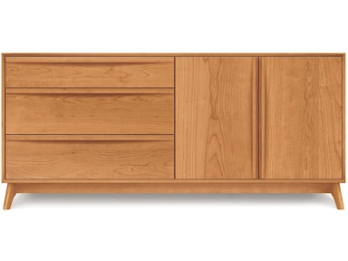 Copeland Catalina Dresser in Cherry with 3 drawers on left, 2 doors on right 2-CAL-52-03