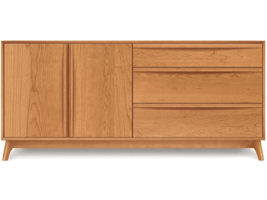Copeland Catalina Dresser in Cherry with 3 drawers on right, 2 doors on left 2-CAL-51-03