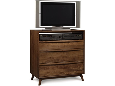 Copeland Catalina 3-Drawer Media Chest in Walnut 2-CAL-35-04