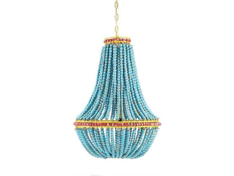 Creative co op lamps and lighting wood beaded chandelier blue creative co op wood beaded chandelier blue da1615 aloadofball Choice Image