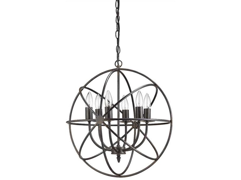 Creative co op lamps and lighting metal chandelier with 6 lights creative co op metal chandelier with 6 lights da1616 aloadofball Choice Image