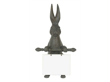 Creative Co-Op Resin Hare with Ceramic Message Board DA1962