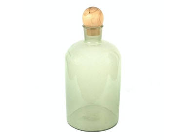 Creative Co-Op Glass Bottle with Wood Stopper DA2588