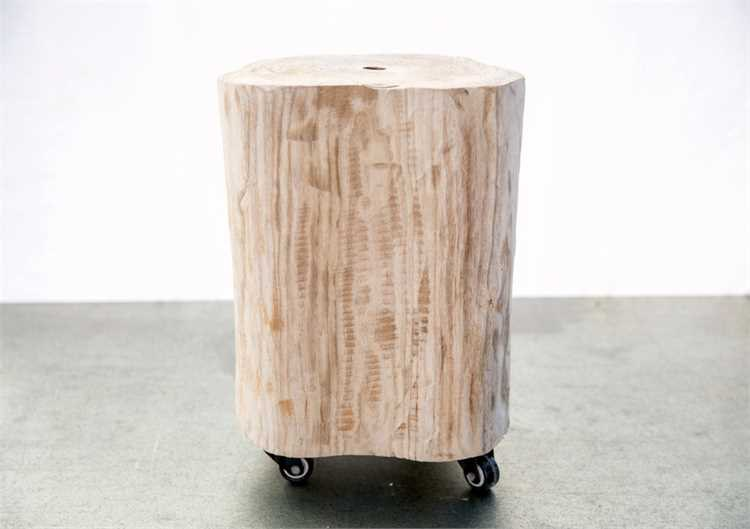 Creative Co Op Wood Stool On Casters DA5408