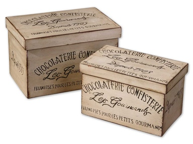 Uttermost Chocolaterie Boxes, 2 Sizes 19300