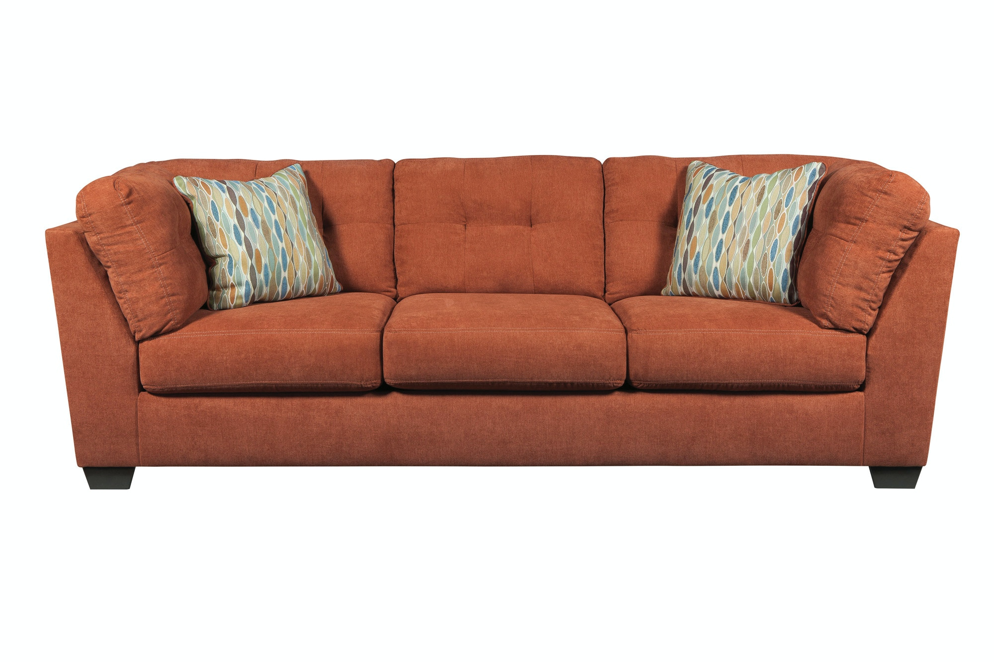 Signature Design by Ashley Living Room Delta City Left Chaise Sectional with Ottoman - Steel ...
