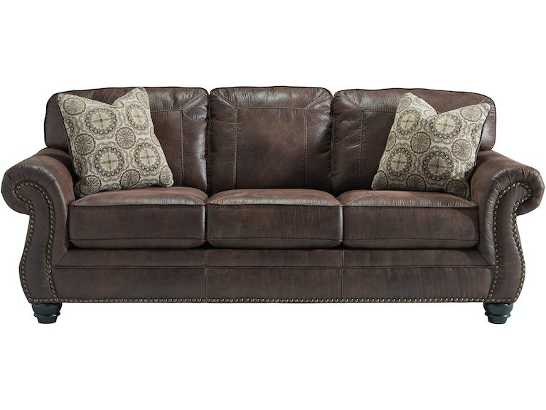 Signature Design By Ashley Living Room Breville Loveseat Charcoal 046648 Furniture Fair