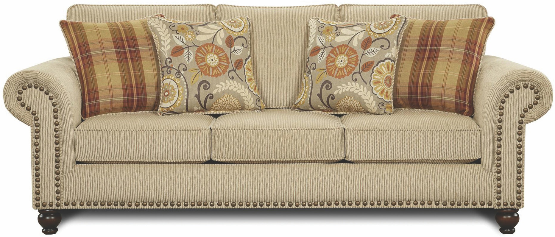Fusion Living Room Out West Linen Sofa Furniture